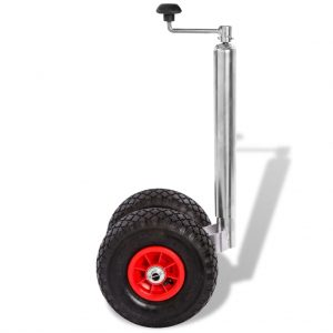 Trailer Jockey Wheel with 2 Pneumatic Tyres 200 kg