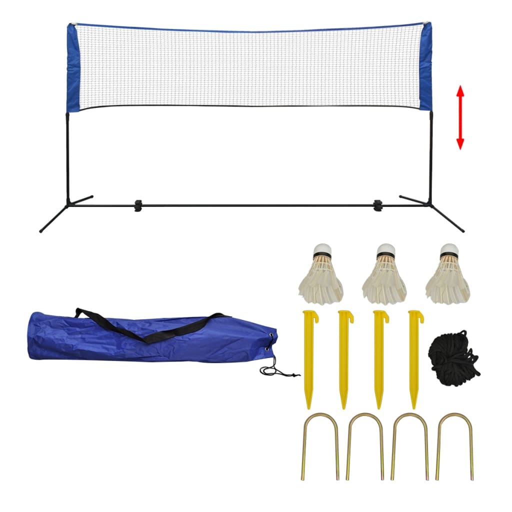 Badminton Net Set with Shuttlecocks 300x155 cm