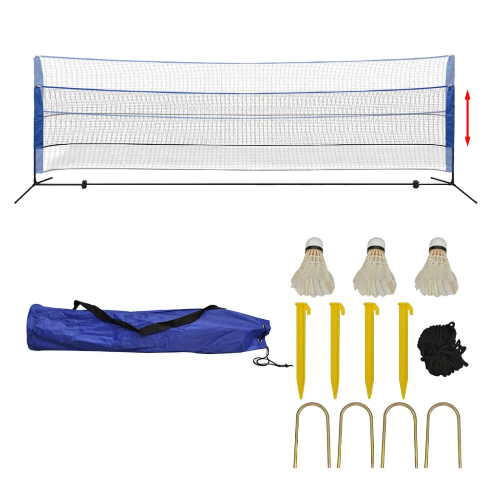 Badminton Net Set with Shuttlecocks 500x155 cm