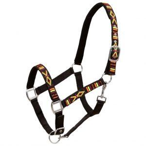 Head Collars 2 pcs for Horse Nylon Size Cob Black