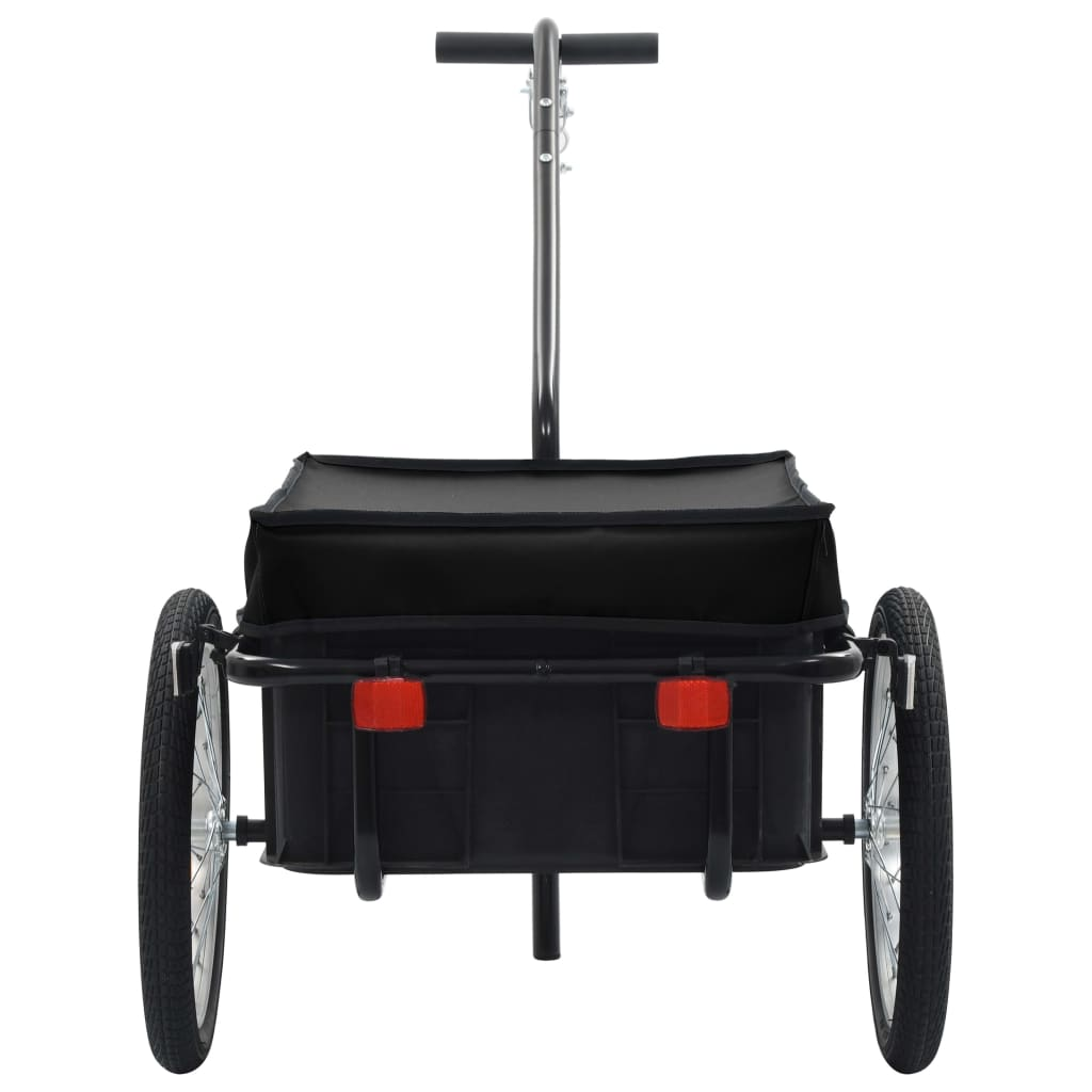 Bike Cargo Trailer/Hand Wagon 155x61x83 cm Steel Black