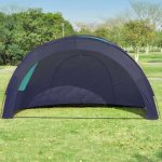 Camping Tent Fabric 6 Persons Dark Blue and Blue