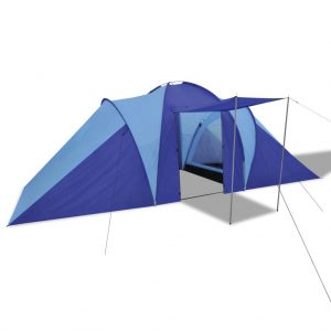Camping Tent 6 Persons Navy Blue/Light Blue
