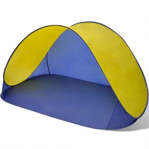 Beach Tent Outdoor Foldable Water Proof Sun Shade Yellow