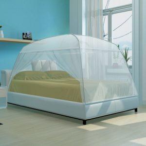 Mongolia Net Mosquito Net 2 Doors 200 x 150 x 145 cm White
