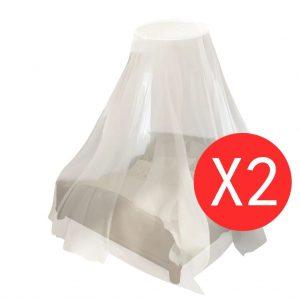 Mosquito Net 2 pcs Round 56x325x230 cm