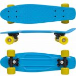 """Retro Skateboard with Blue Top Yellow Wheels 6.1"""""""
