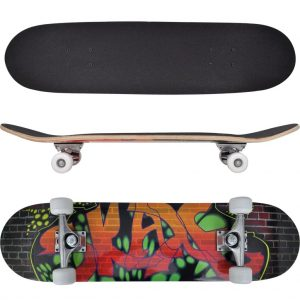 Oval Shape Skateboard 9 Ply Maple Graffiti Design 8""
