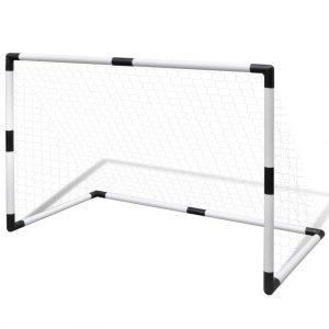 Mini Soccer Goals Post Net Set 2 pcs for Kids 91.5 x 48 x 61 cm