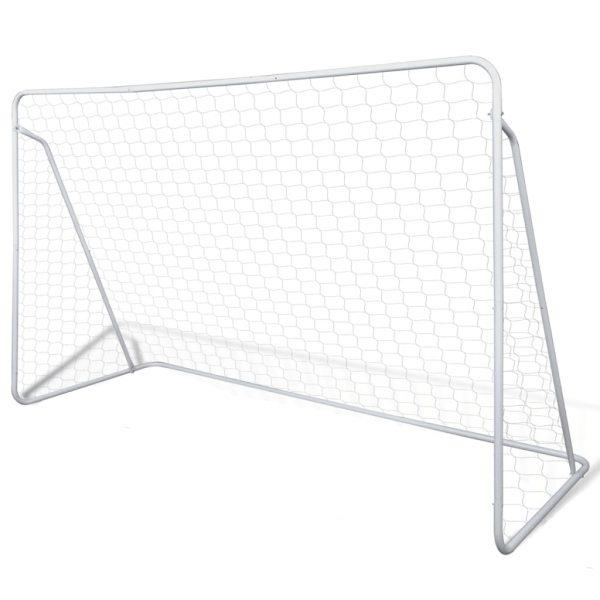 Soccer Goal Post Net Set Steel 240 x 90 x 150 cm High-quality