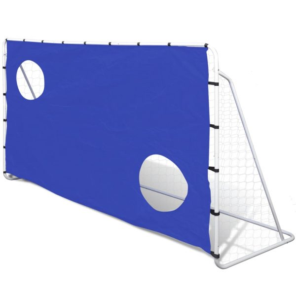 Soccer Goal with Aiming Wall Steel 240 x 92 x 150 cm High-quality