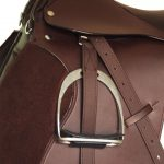 """Horse Riding Saddle Set 17.5"""" Real Leather Brown 18 cm 5-in-1"""