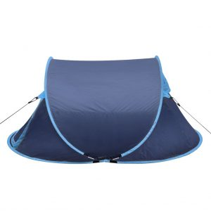 Pop-up Camping Tent 2 Persons Navy Blue / Light Blue