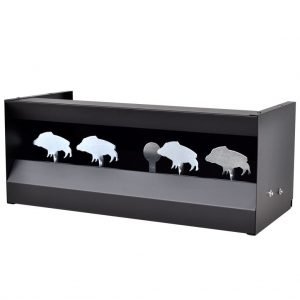 Magnetic Knockdown Pellet Catcher Shooting Target Wild Boar Design