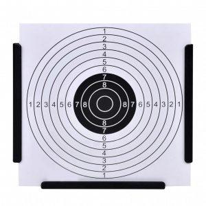 14 cm Funnel Target Holder Pellet Trap + 100 Paper Targets
