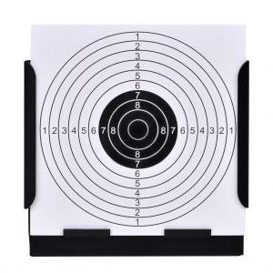 14 cm Square Target Holder Pellet Trap + 100 Paper Targets