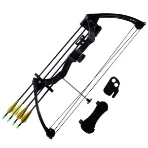 Youth Compound Bow with Accessories and Aluminium Arrows