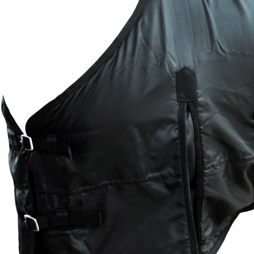 Fleece Rug Double Layers with Surcingles 105 cm Black