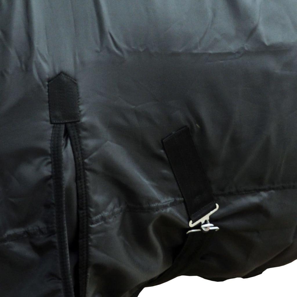Fleece Rug Double Layers with Surcingles 115 cm Black