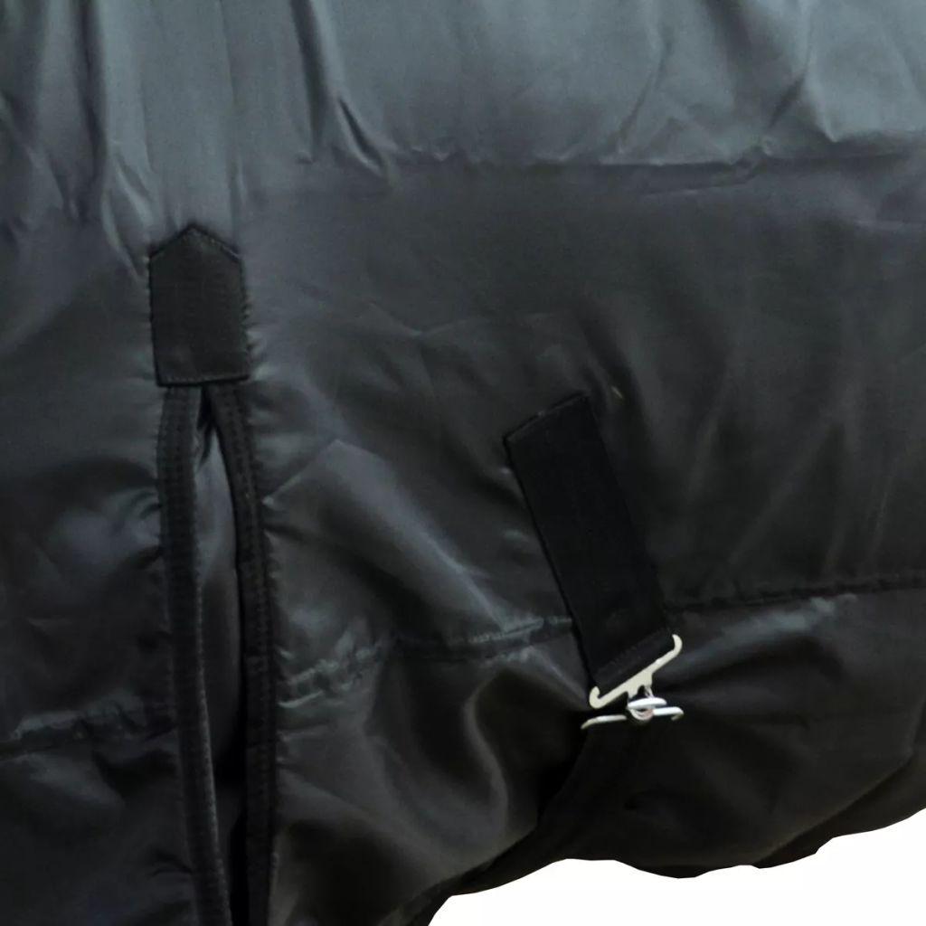 Fleece Rug Double Layers 135 cm Black