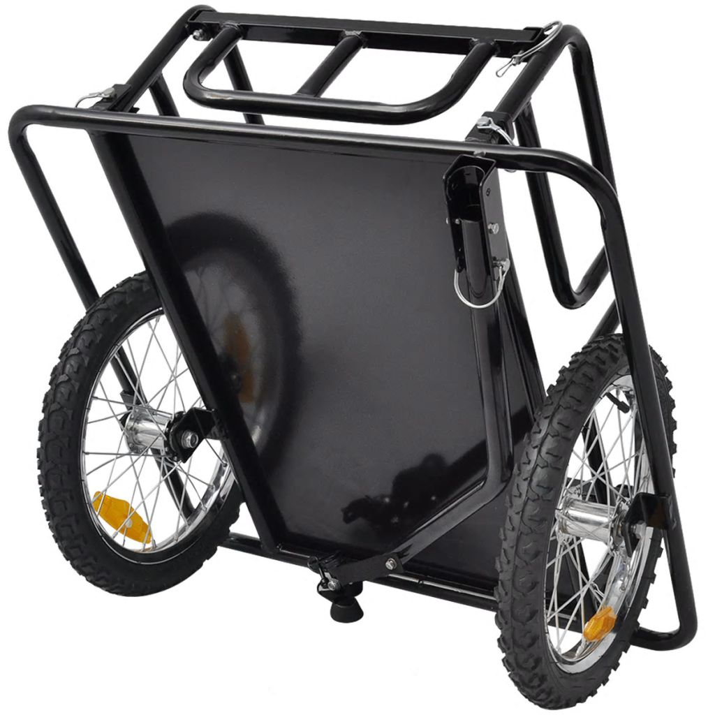 Bike Cargo Trailer Black 50 kg