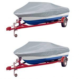 Boat Covers 2 pcs Grey Length 519-580 cm Width 244 cm